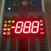 "Custom Red/Green/Yellow 0.54"" Triple Digit 7-Segment LED Display for Cooling"