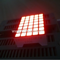 Ultra red 3.39mm 5*7 square dot matrix led display row cathode column anode for Elevator LOP