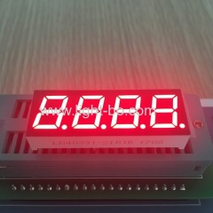 "Super bright red 0.39"" 4 digit 7segment led display common anode for process control"