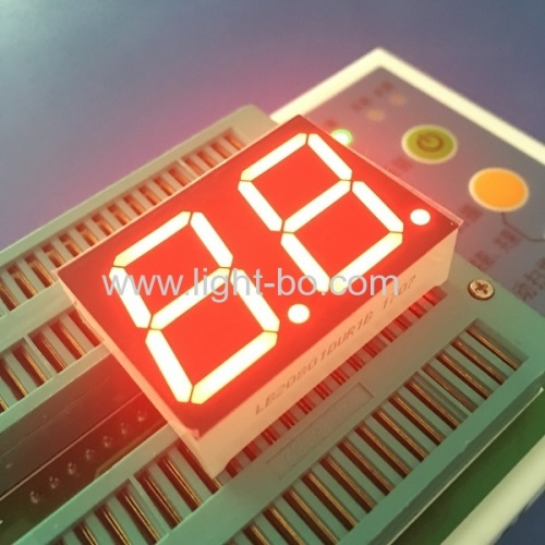 Ultra Red dual digit 0.8inch common cathode 7 segment led display for instrument panel indicator