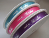 custom printing satin ribbon with logo manufacturer
