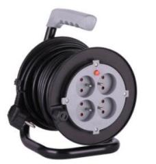 Children protection Mini winding French electric cable reel H05VV-F fixed plate 15m