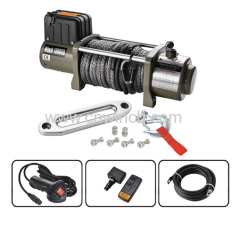 4X4 Winch with Synthetic Rope 10000lbs