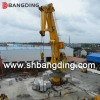 Knuckle Boom marine deck Crane on port for loading bulk cargo