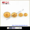 Alloy shank metal fashion button maker HVB brass with yellow oil concave with small round edge button