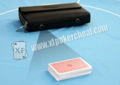 Leather Wallet Poker Camera For Scanning Invisible Barcodes Marked Cards