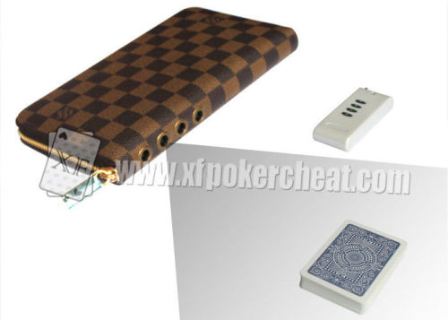 Buckle Leather Wallet Poker Camera Poker Cheat Tools For Poker Analyzer