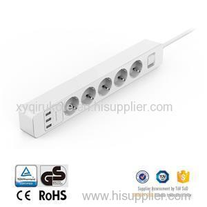 5 AC Outlets Ports Power Smart Socket Surge Protector With Usb