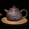 Purple Clay Chinese Nixing Peony Engraving Tea pot Pure Handmade Big Capacity Teapot