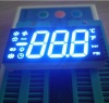 Ultra bright blue customized Triple Digit 7 Segment LED Display Common anode for Refrigerator Control