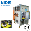 Double heads four working station vertical type stator auto coil winding machine