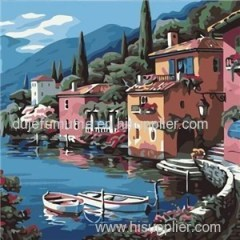 Scenery DIY Paint by Number Canvas Painting Kit for Adults