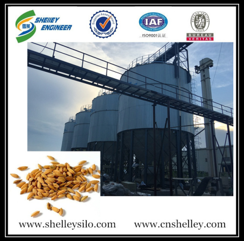 used paddy rice white rice steel grain storage silo