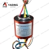 Electric Swivel Alternator 18 wires power and signal Hollow shaft slip ring