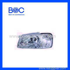 Head Lamp Without Parking Lamp R 92102-25000 L 92101-25000 For Hyundai Accent '00-'01