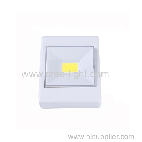 Battery Operated 3W COB LED Wall Small Switch Night Light