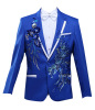Men's Suit Tuxedos Smoking Suits suit jacket with Embroidery