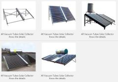 All Vacuum Tubes Solar Collector
