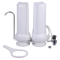 2 stage white color kitchen table type tap Water Filter