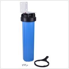 single 20inches pipeline big blue housing water filter with PP CTO or GAC cartridge filters