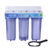 Triple pipeline Water Filter as household water purifier