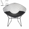 Modern Style Diamond Metal Dining Chair