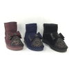 PU suede and paillette fashion kids snow boots