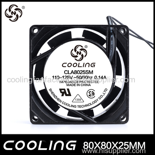 factory sell 80mm AC fan axial cooling fan COOPER WIRE AND CHEAP PRICE