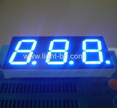 "Ultra blue 7 segment led display common anode triple digit 0.8"" for instrument panel"