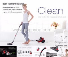 Puppyoo Cylinder Vacuum Cleaner -- 2.5L Vac with Powerful Suction