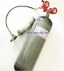 Fully wrapped carbon fiber gas cylinder for hunting equipment or fill PCP air gun