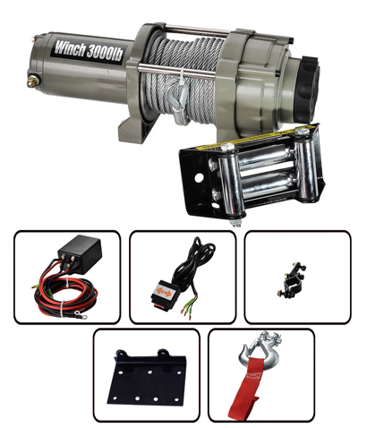 CAM ACTIVATED 3000LBS ATV WINCH