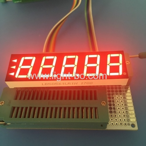 Super red common cathode 5 Digit 0.56-inch 7 Segment LED Display for Instrument Panel .