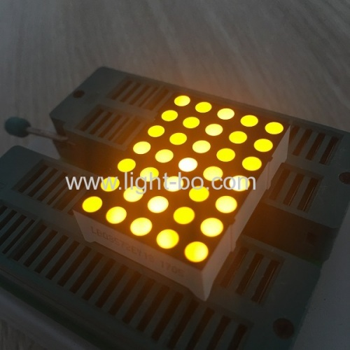 Ultra bright yellow 1.2  5*7 dot matrix led display row cathode for digital time zone clocks