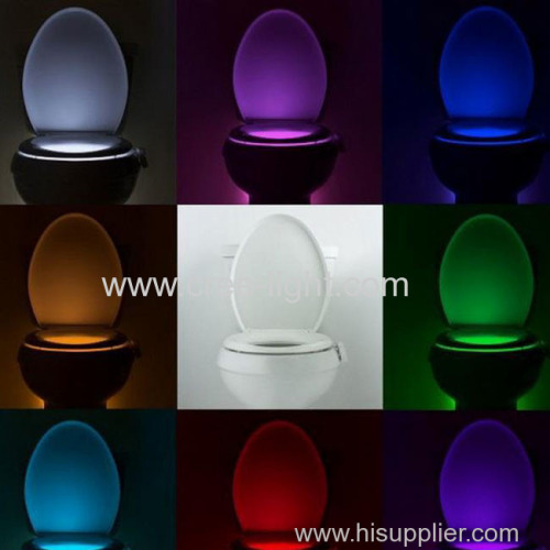 8 Colorful Toilet Night Light