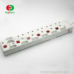 IEC South African power socket 5 Way 3m