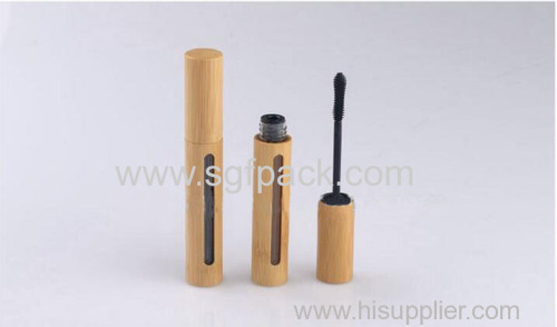bamboo wooden makeup container 7ml mascare tubes mascara bottle