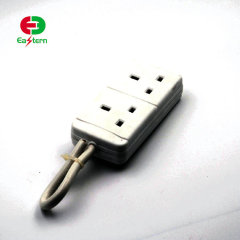 2 gang13A UK extension power plug socket with switch