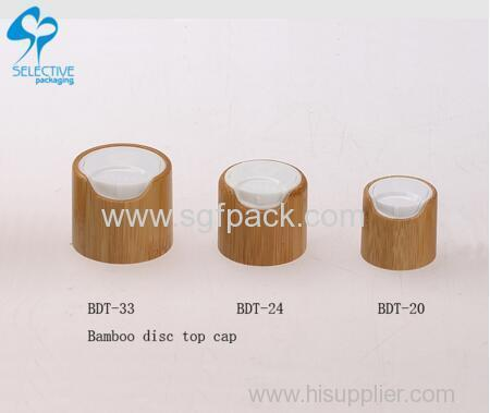 natural bamboo packaging disc top cap bamboo wooden bottle cap