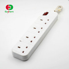 4 way safe electric outlet uk style power strip