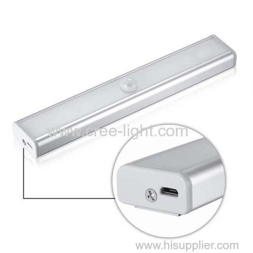 USB Rechargeable 10 LEDs Motion Sensor Cabinet Light