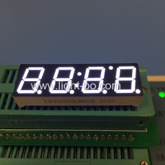 "Ultra white 0.39"" common cathode 4 digit 7 segment led clock display for home appliances"