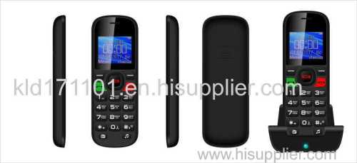 Elder mobile phone with holder of charger
