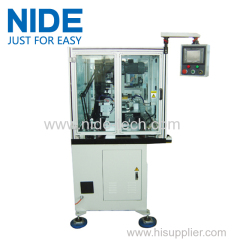 Armature commutator welding machine