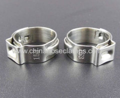 Single Ear Stepless Hose Clamp