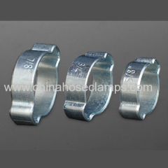 Carbon Steel Galvanized Double Ear Hose Clamp