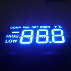 "Customized Blue 0.5"" triple digit led display for refrigerator control"