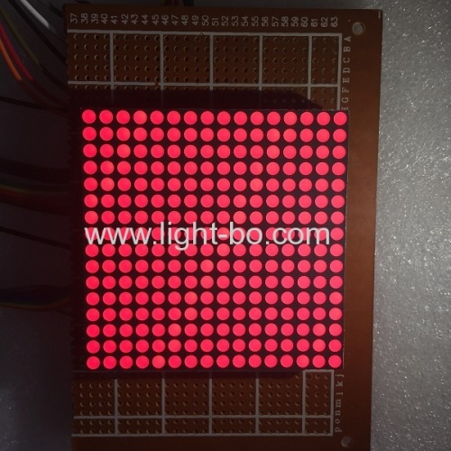 Ultra bright red row anode column cathode 3mm 16*16 dot matrix led display for moving signs