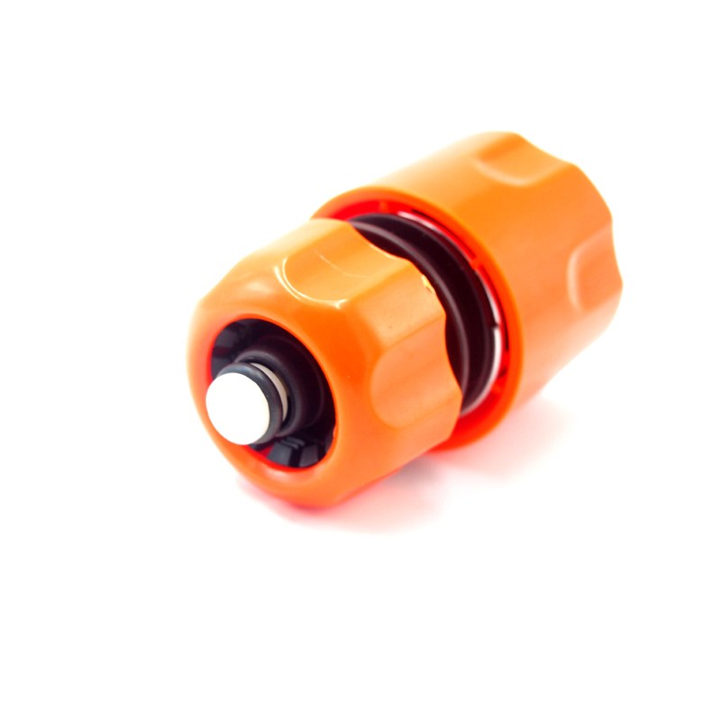 "Plastic 1/2"" snap-on quick connector with waterstop"