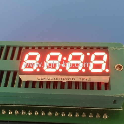 "Super red 0.28"" 4 digit 7 segment led clock display common cathode for instrument panel"